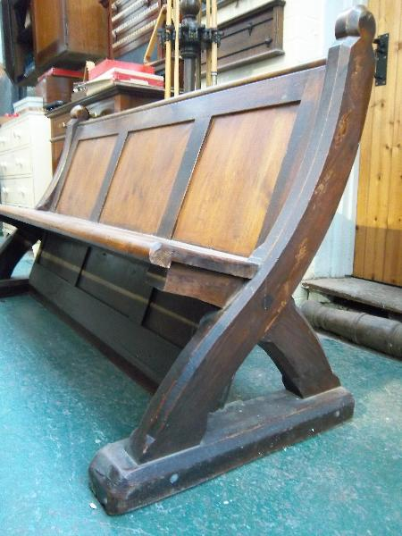 Antique Pews and Benches for sale at Brown