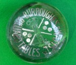 Antique Burroughes and Watts billiards paperweight