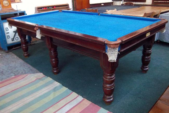 Riley 8ft antique snooker table in mahogany