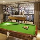 Restored Antique Billiards Table installed at Hackett store Spitalfields Credit : Ed Reeve