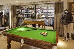 Restored Antique Billiards Table installed at Hackett store Spitalfields Credit : Ed Reeve