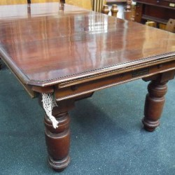 7ft Mahogany Jelks Antique Snooker Diner Table The