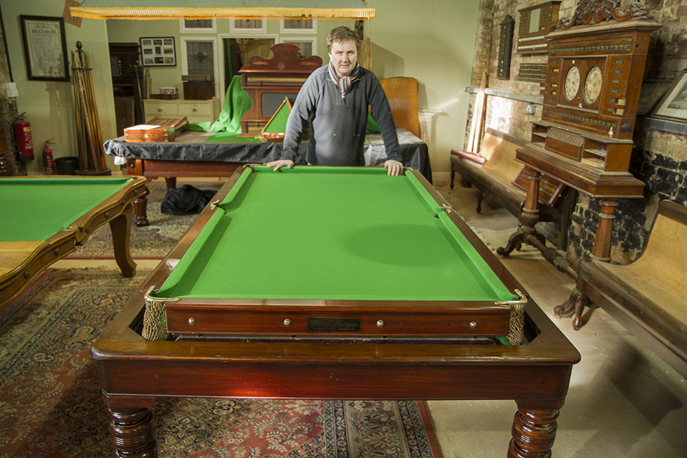 Burgess 7ft Rollover Antique Snooker Dining Table Playing