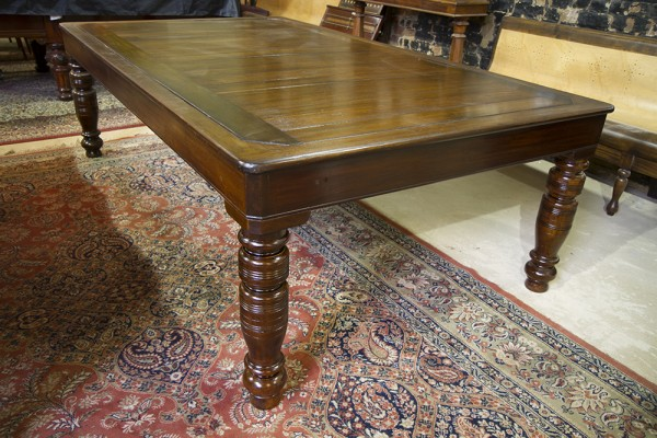 7ft Burgess Mahogany Rollover Antique Snooker Dining Table