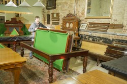 7ft Burgess antique rollover snooker table
