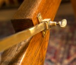 Rise and fall mechanism on an antique snooker dining table