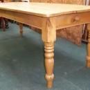 Antique Pine Farmhouse Table 7ft