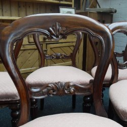 Vintage Balloon Back Dining Chairs