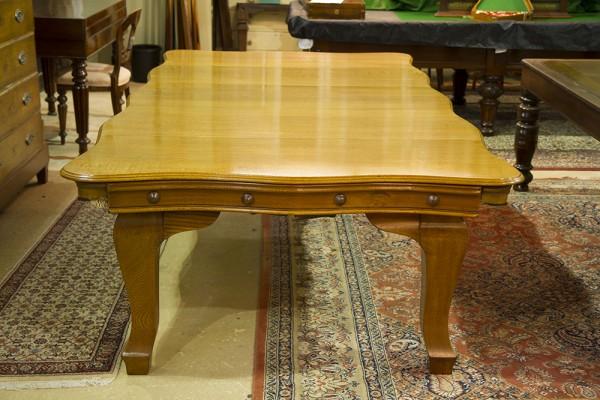 8ft Riley Serpentine Antique Snooker Dining Table Oak