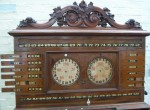 Antique life pool scoreboard on stand by Thurston