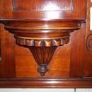 Antique Overmantle Mirror Detail