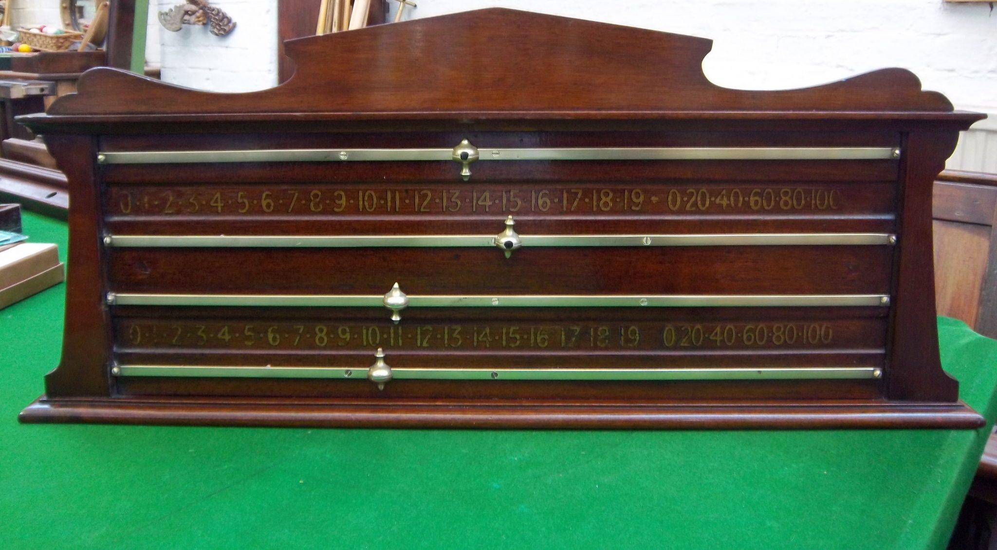 Antique Snooker Scoreboard In Mahogany Browns Antiques