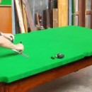 Restoring an antique snooker table
