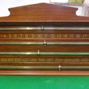 Arts and Crafts Walnut Snooker Scoreboard