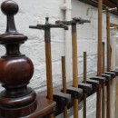 Antique Snooker Cue Rack for 18 cues