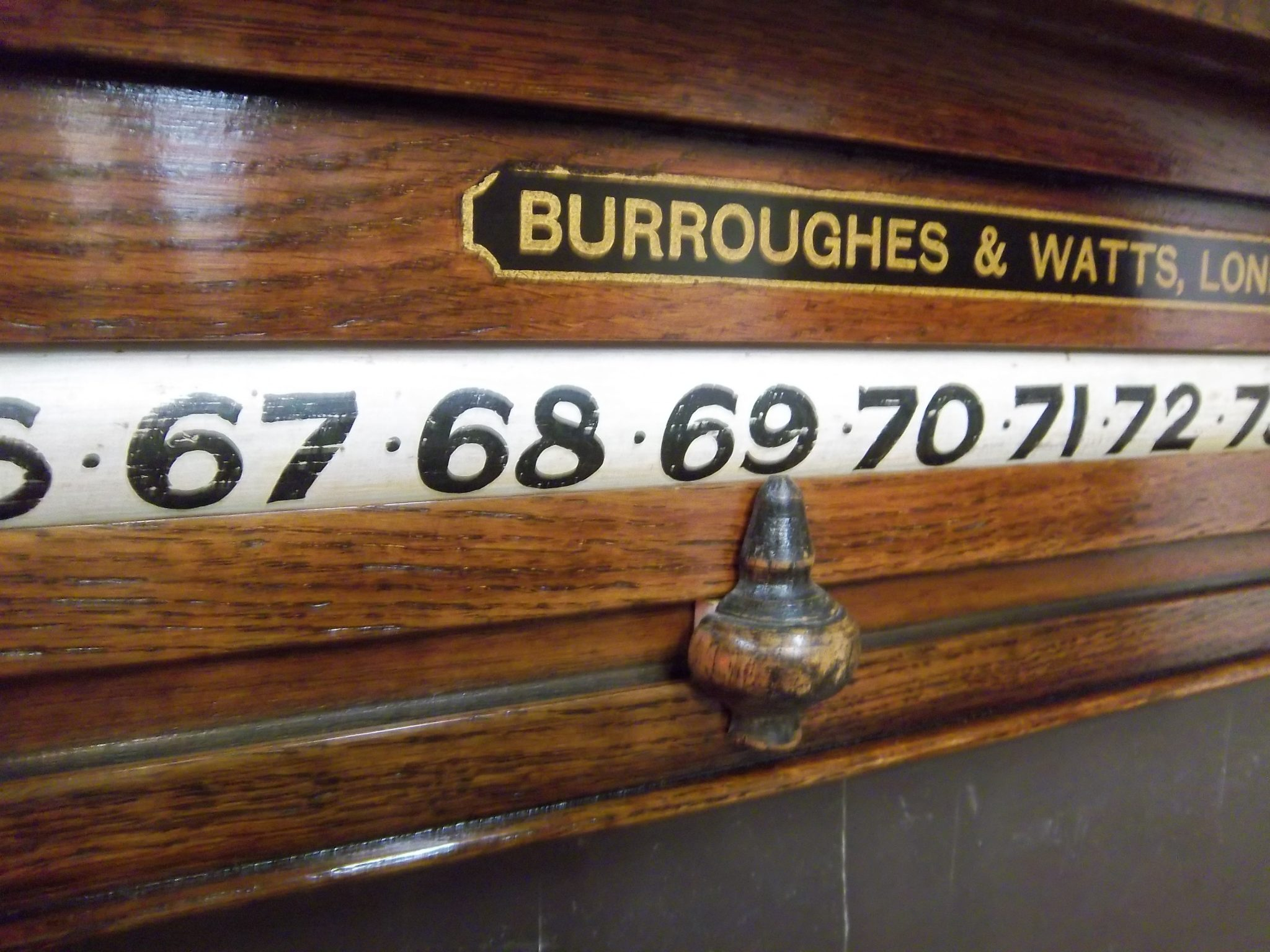 Antique Life Pool Scoreboards For Sale at Brown's Antiques Billiards and Interiors