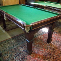 6ft Riley square leg snooker diner mahogany B424