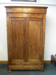 Antique French chestnut Armoire
