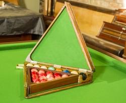 antique snooker ball box