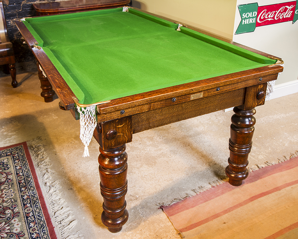 6ft Antique Snooker Dining Table in oak for sale