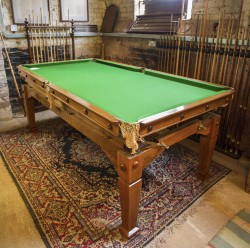 Antique Snooker Dining Table in oak.