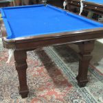 RILEY 6FT MAHOGANY ANTIQUE SNOOKER DINER.SQUARE LEG. C1920.B424