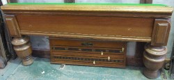 Antique oak full size snooker Table.Burroughes and Watts B272