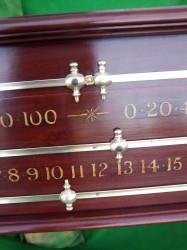 Restored antique snooker scoreboard circa 1930's