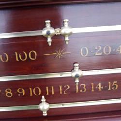 Restored snooker scoreboard circa 1930's