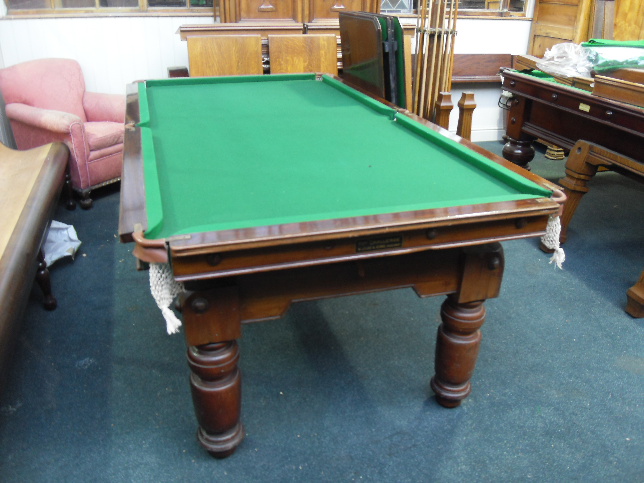 7ft antique snooker dining table by jelks b235 the for 7ft dining room table