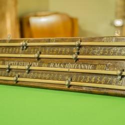 Antique scoreboard RMS Britannic.White Star Line.