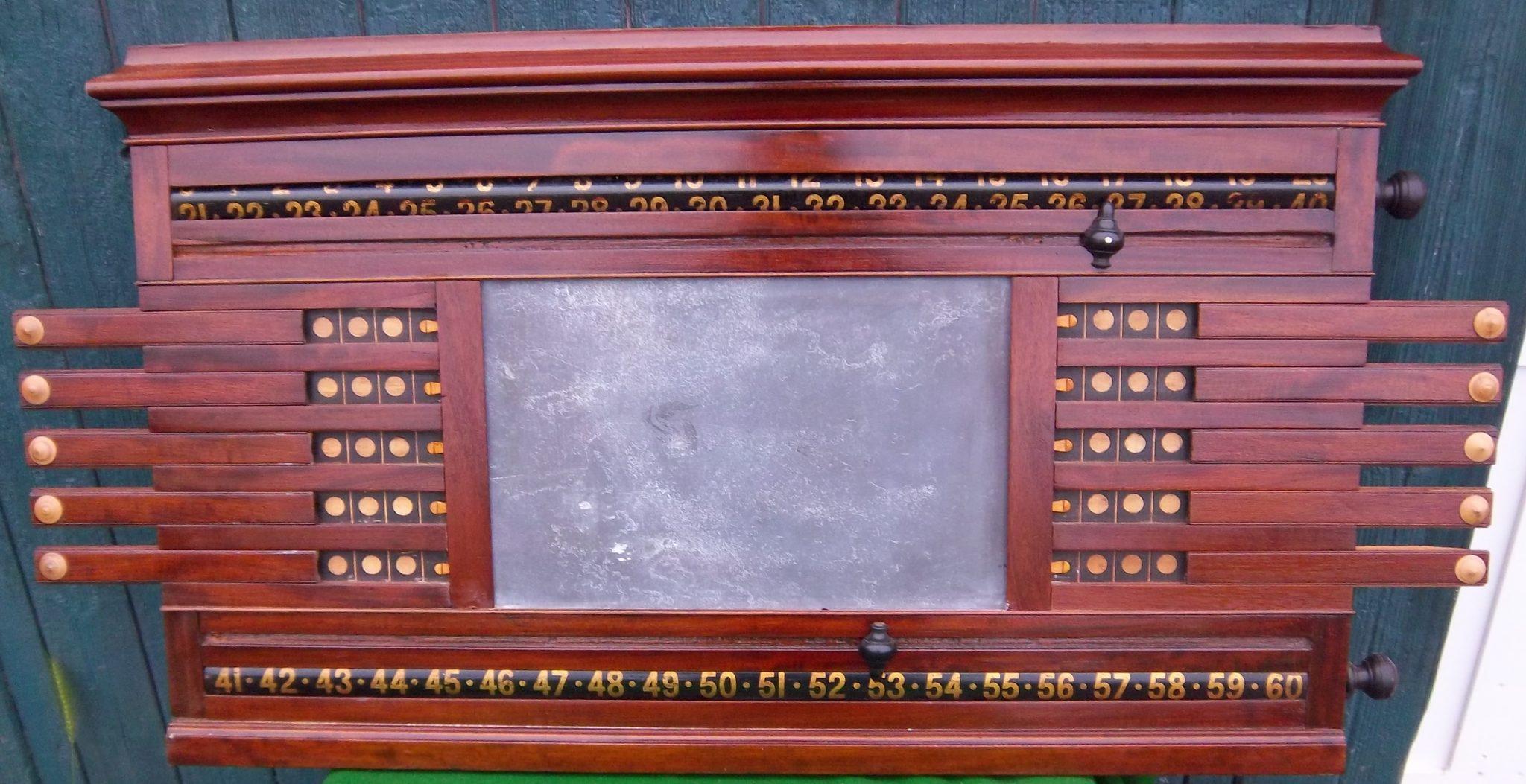 B522 Ashcroft Life Pool Scoreboard 1 Browns Antiques