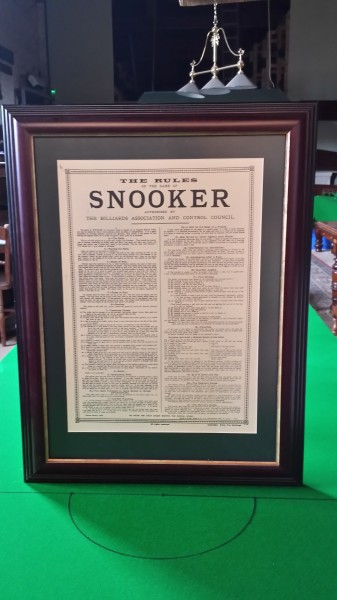 Framed Snooker Rules Rules Of The Game Of Snooker