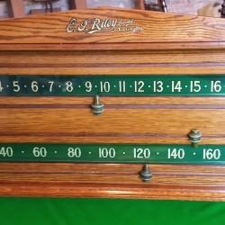 Riley oak antique snooker scoreboard.
