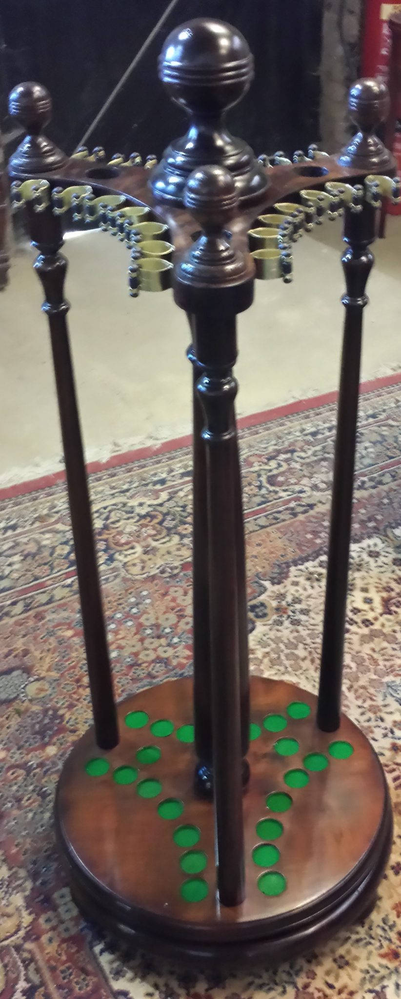 Restored Antique Revolving Cue Rack Browns Antiques