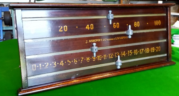 Ashcroft Antique Snooker Scoreboard Mahogany B509 Browns