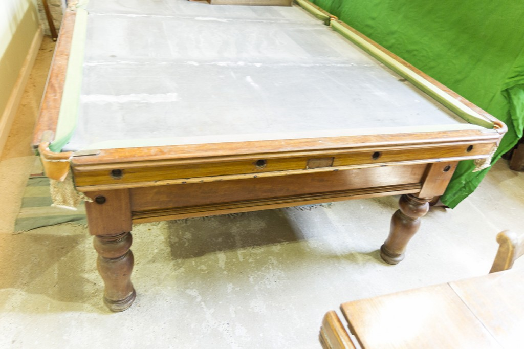 10 ft Antique Snooker Table by Burroughes and Watts B290