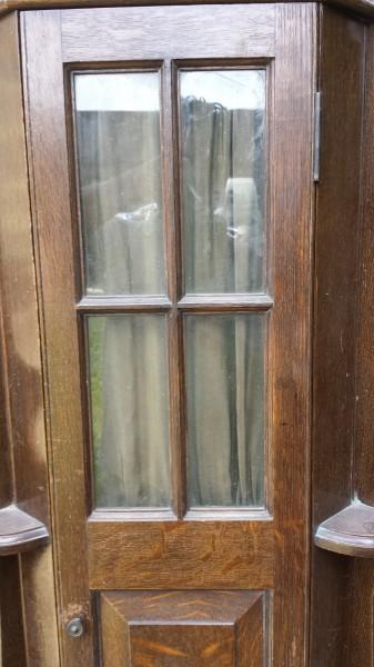 Riley Arts And Crafts Oak Billiard Cue Cabinet B544