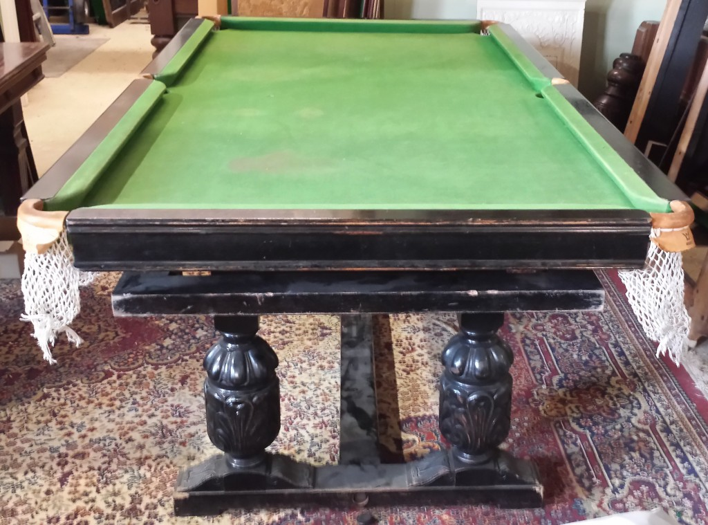 BEFORE.Riley antique refectory snooker dining table