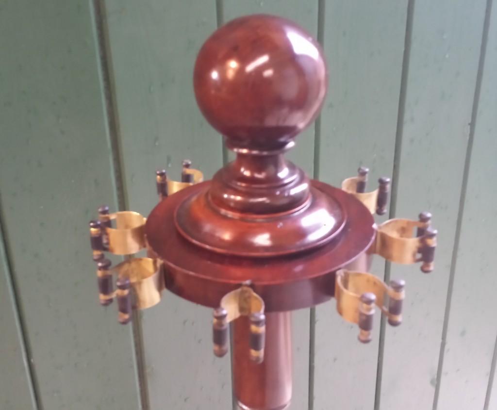 antique snooker billiard cue rack