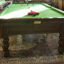 9ft John Bennett antique snooker table