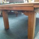 Square leg oak antique snooker table