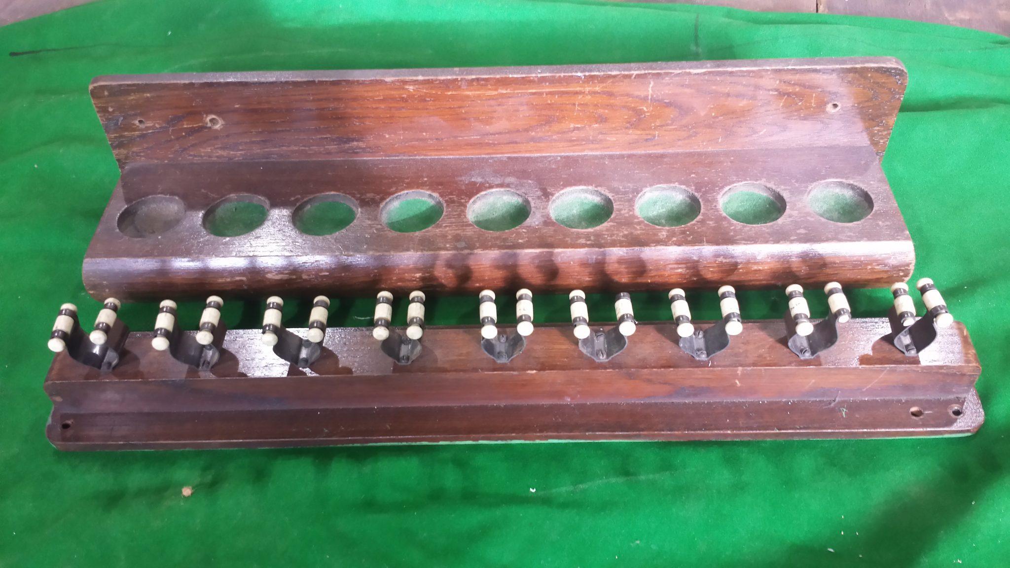 Antique Snooker Cue Rack 9 Clip 1 Browns Antiques
