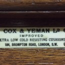 A cox and yeman 10ft tulip leg antique snooker table.