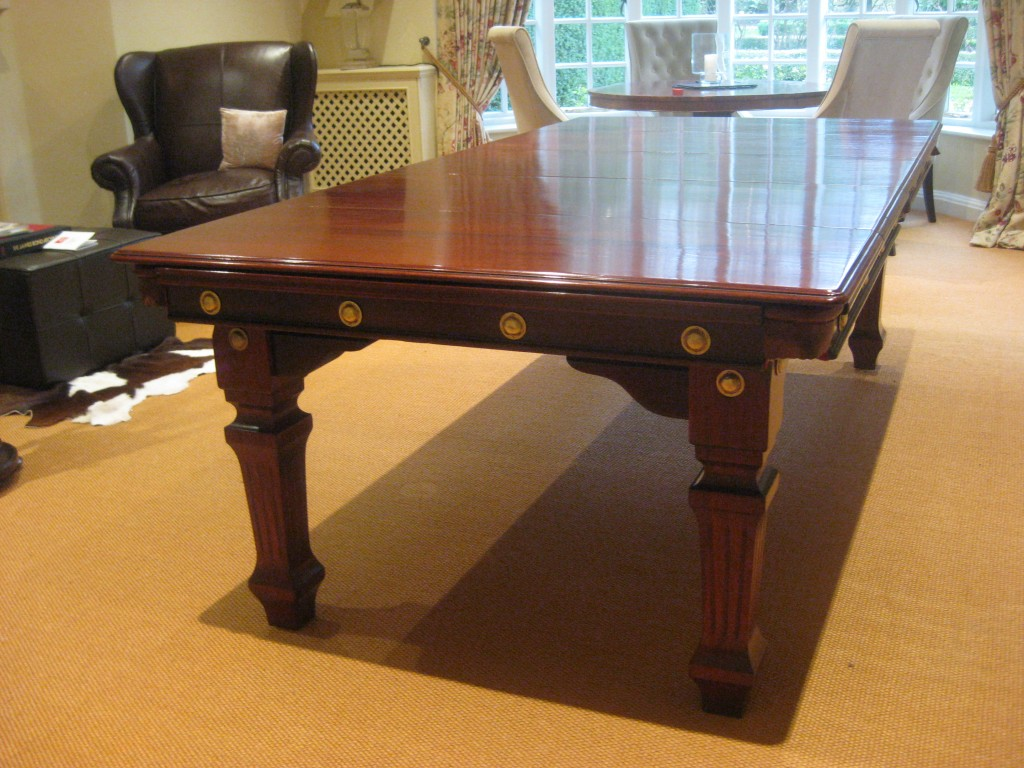 7ft Riley snooker diner with mahogany dining leaves.