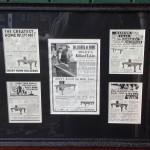 Framed antique riley adverts.original billiards adverts