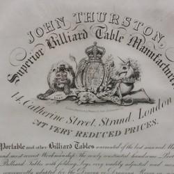 Thurstons orignal billiards advert framed (2)