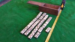 Vintage dominoes in wooden box