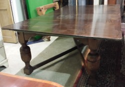 7ft Burroughes and Watts oak antique snooker dining table