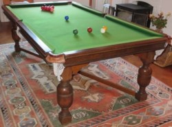 Burroughes and watts 7ft oak snooker diner B553